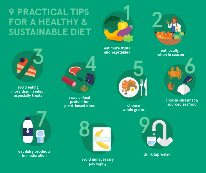 9 Helpful Tips For A Healthy and Sustainable Diet